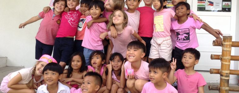 pink shirt day at ONE International school in the Philippines