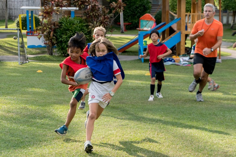 Extra Curricular program rugby at ONE International School in Dumaguete Philippines.