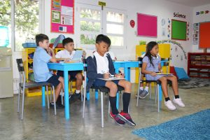 Year 4/5 in ONE International School Dauin Dumaguete Philippines.